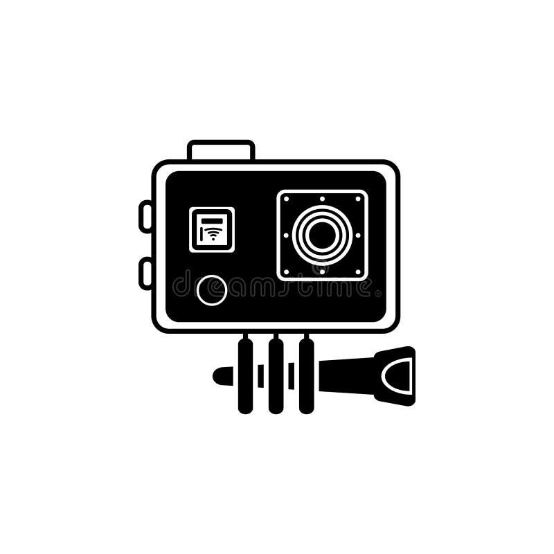 Speedlite, Aanstekend pictogram Element van de pictogrammen van het fotomateriaal Grafisch het ontwerppictogram van de premiekwal stock illustratie