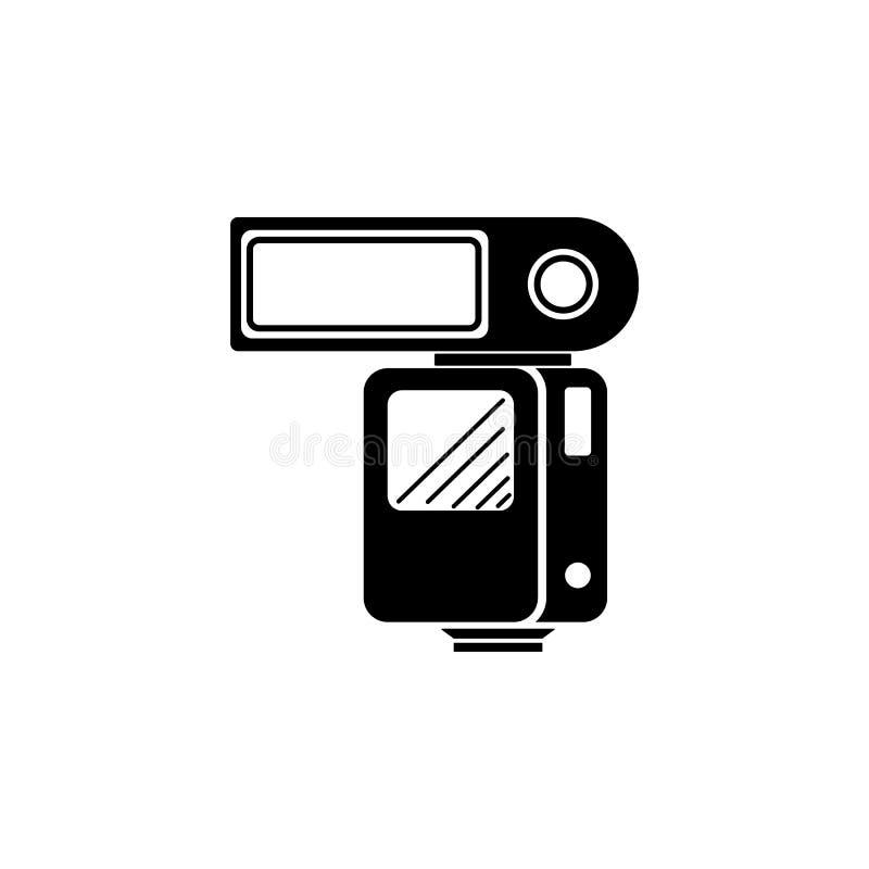 Speedlitepictogram Element van de pictogrammen van het fotomateriaal Grafisch het ontwerppictogram van de premiekwaliteit Tekens  stock illustratie