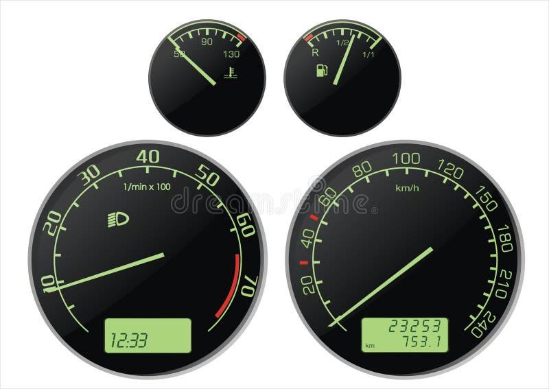 speedmeter stock illustrationer