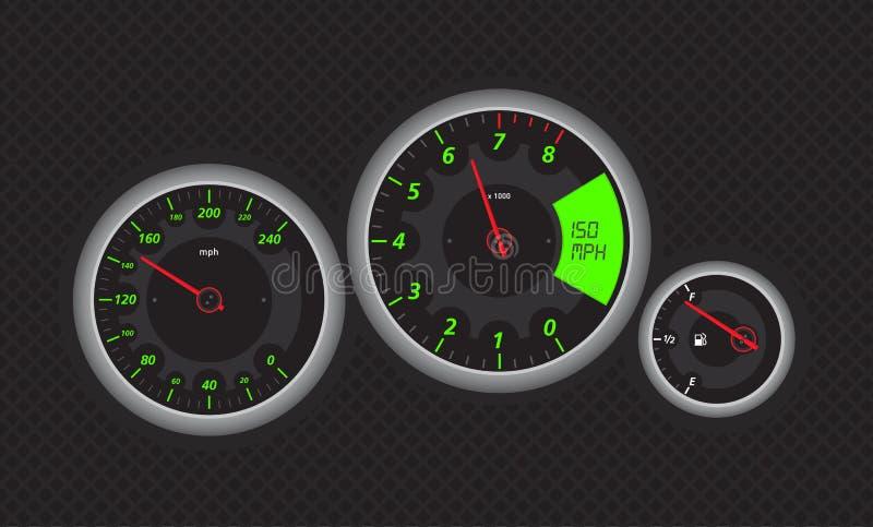 Download Speedo stock vector. Image of instrument, tacho, fuel - 7132340