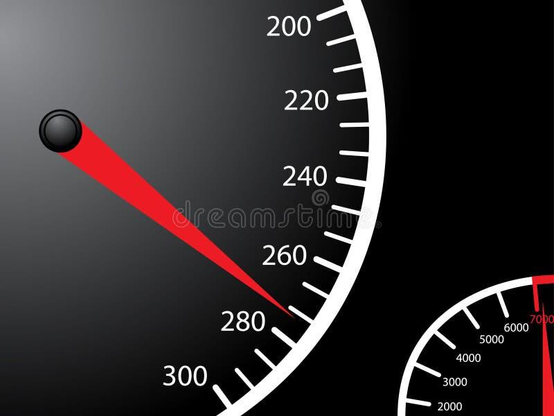 Speedometer. Vector illustration of a car speedometer stock illustration
