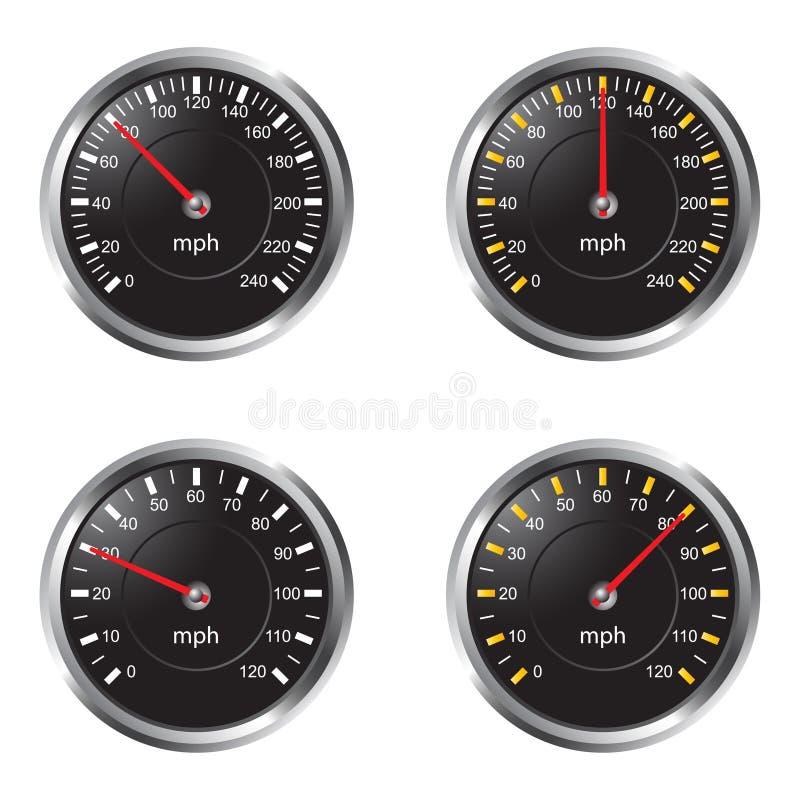 Speedometer royalty free illustration