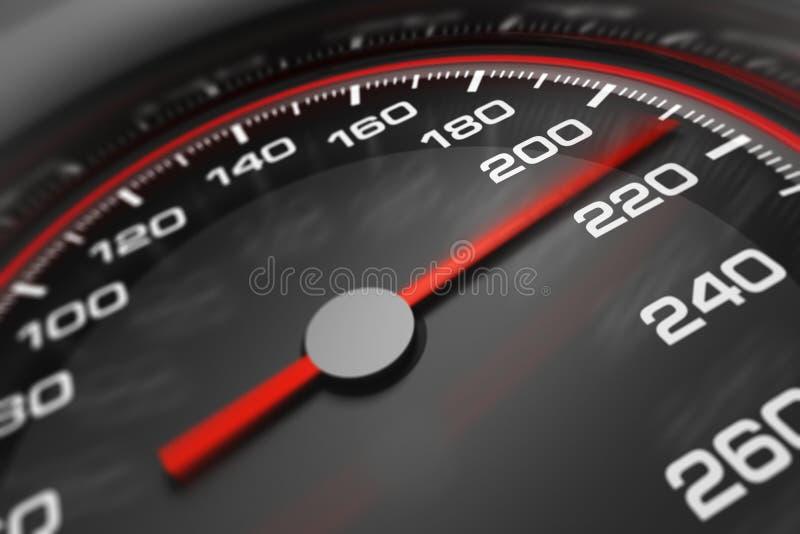 speedometer 3d royaltyfri fotografi