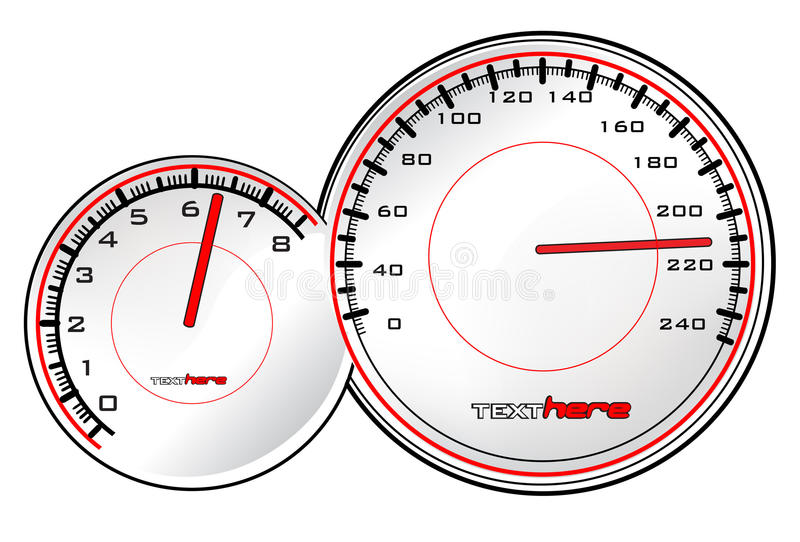 Download Speedometer stock vector. Image of dashboard, number, panel - 9564124