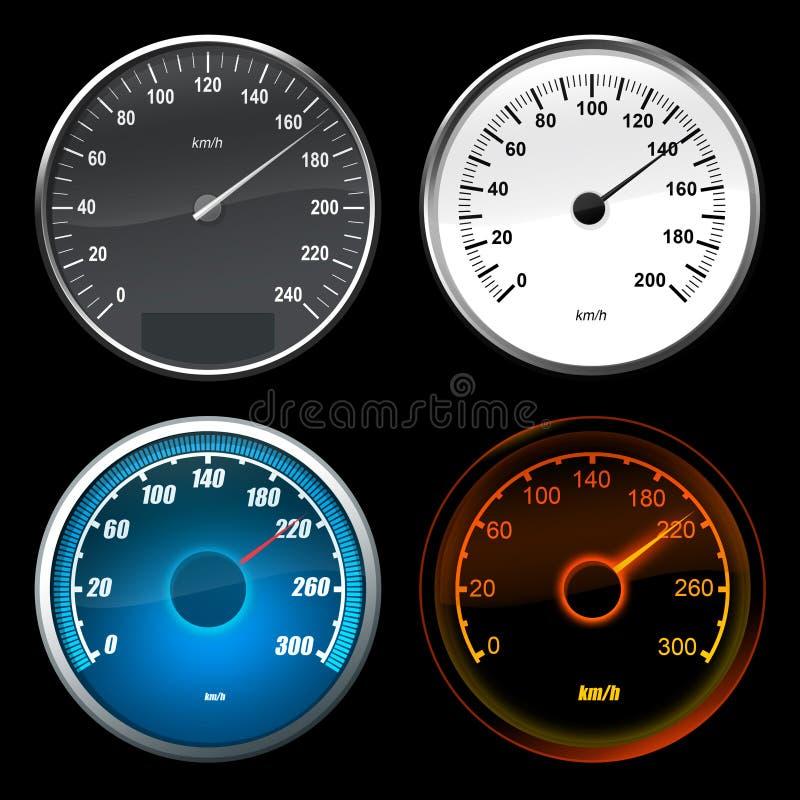Speedometer car royalty free illustration