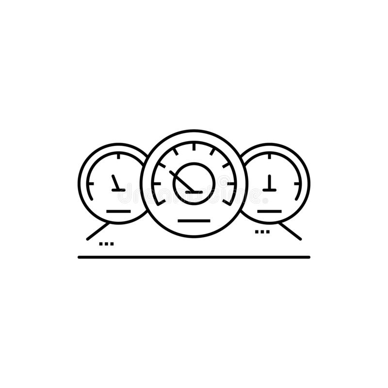 Speedometer car service measuring icon. Element of automobile icon on white back vector illustration