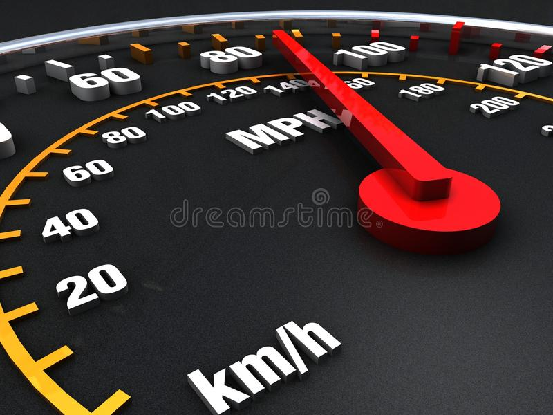 Speedometer close up vector illustration