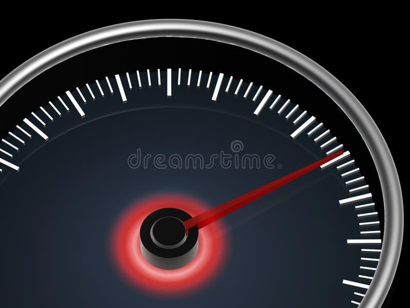 Speedometer On Dark Background Stock Images