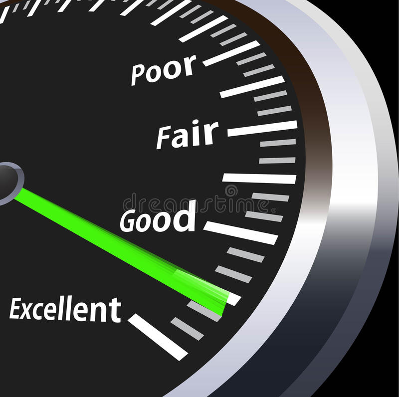 Speedometer for evaluation stock illustration