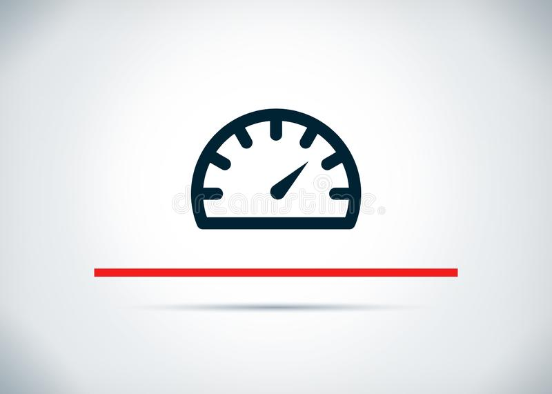 Speedometer gauge icon abstract flat background design illustration vector illustration