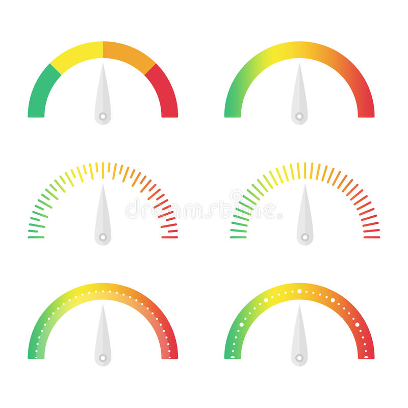 Speedometer icon set stock vector. Illustration of fuel ...