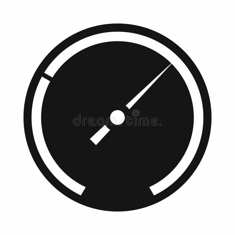 Speedometer icon, simple style stock illustration