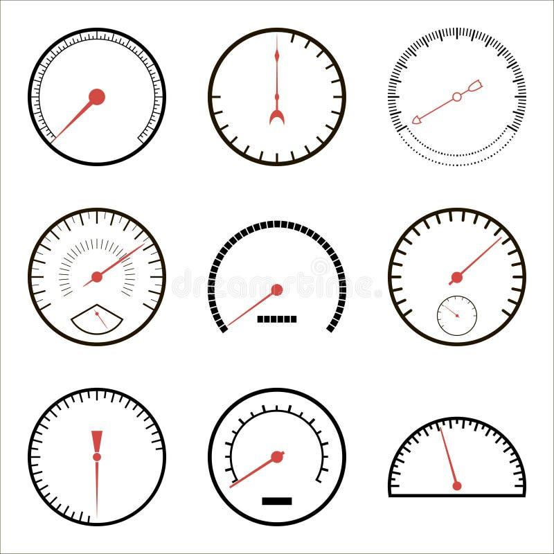 Free Speedometer Icons Stock Images - 42099724