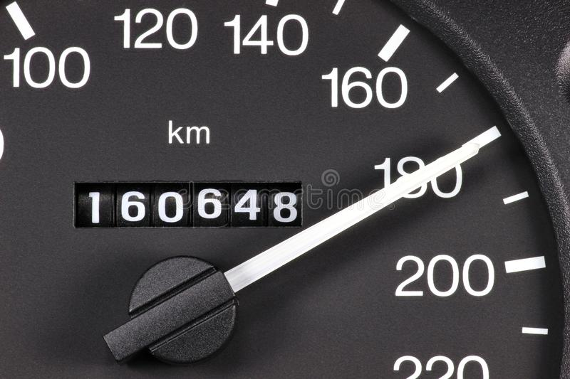 Speedometer at 180 km/h royalty free stock images