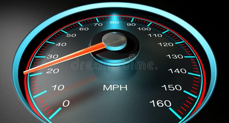 Speedometer MPH Slow ilustração stock