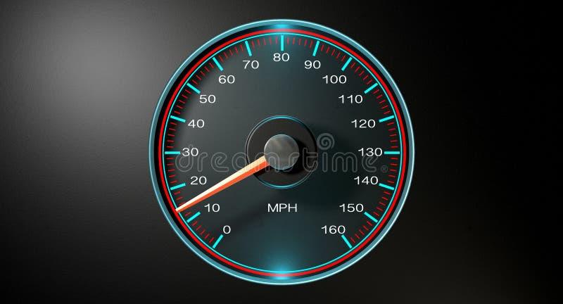 Speedometer MPH Slow ilustração royalty free