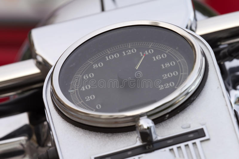 Speedometer pointing high speed royalty free stock image