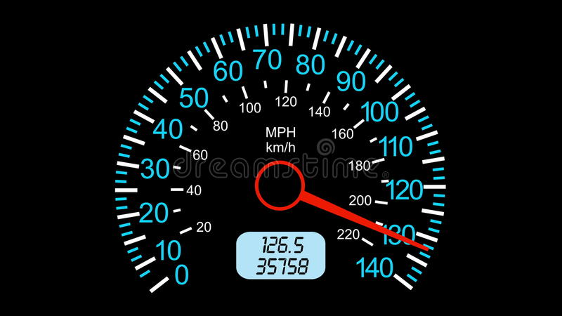 Speedometer Sports Car Start Acceleration And Braking Black Screen
