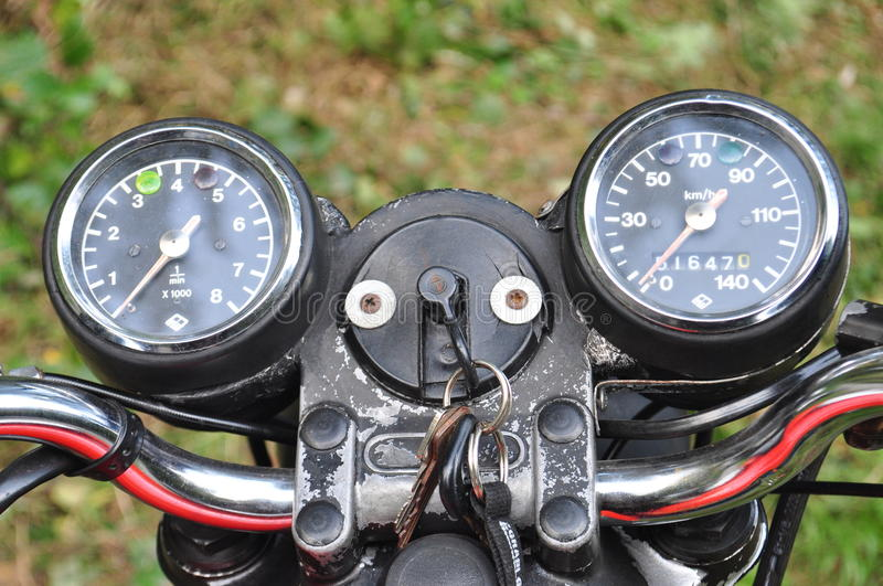 SPEEDOMETER & TACHOMETER royalty free stock photography