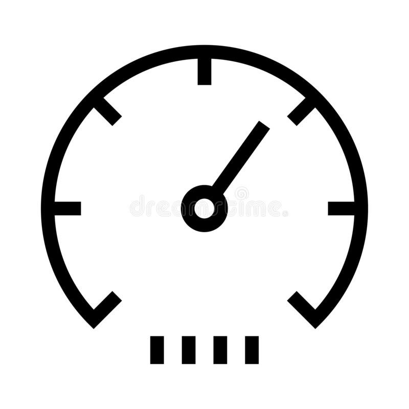 Speedometer thin line vector icon vector illustration