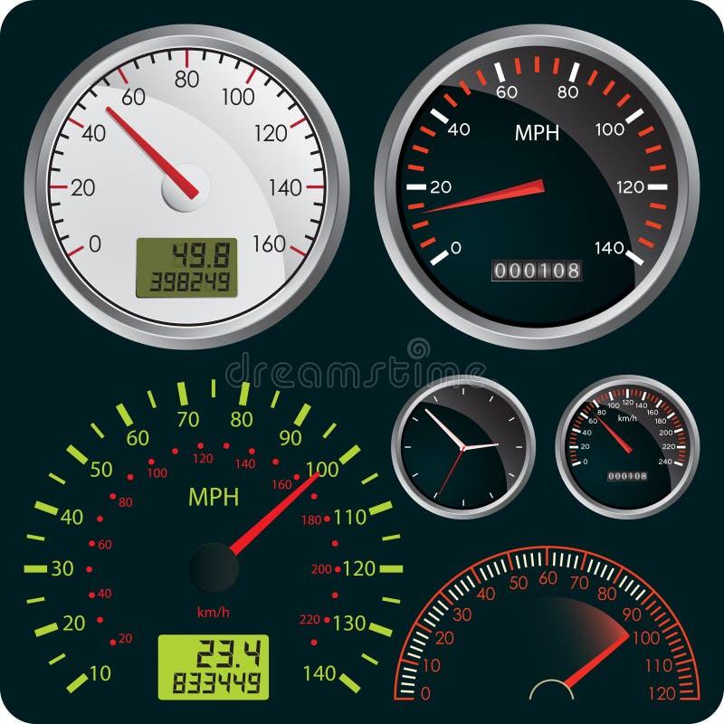 speedometers ελεύθερη απεικόνιση δικαιώματος