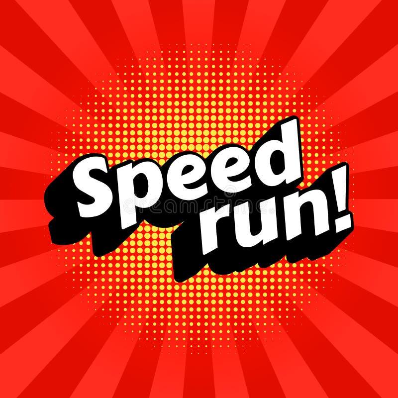 Speedrun poster image. Speedrun video game walkthrough genre. Vector, eps 10 stock illustration