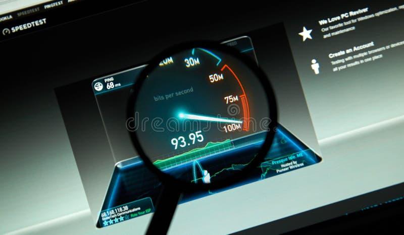 Speedtest inetrent service stock photography
