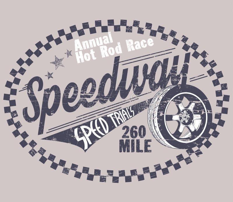 speedway иллюстрация вектора