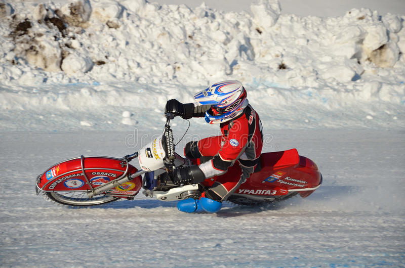 Download Speedway On Ice, Turn On A Motorcycle Editorial Stock Photo - Image: 23062693