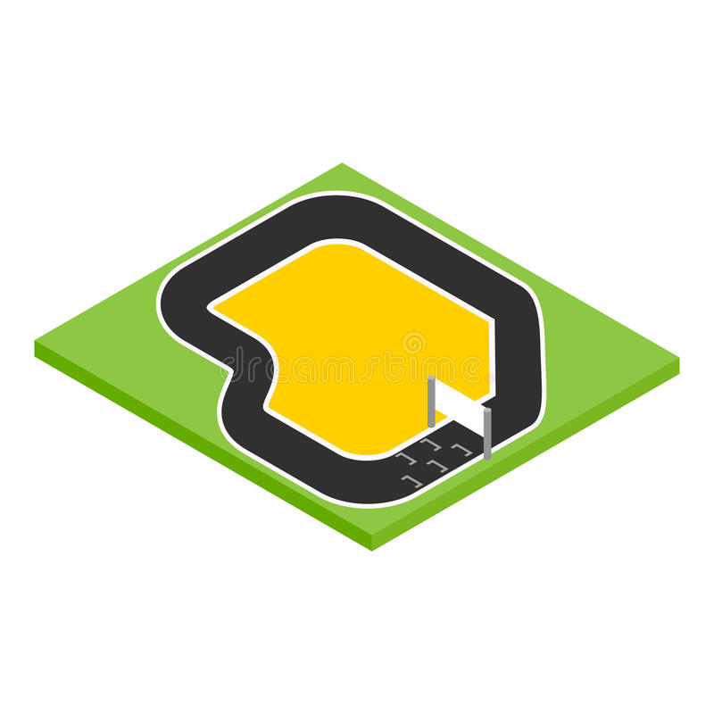 Speedway isometric 3d icon stock illustration
