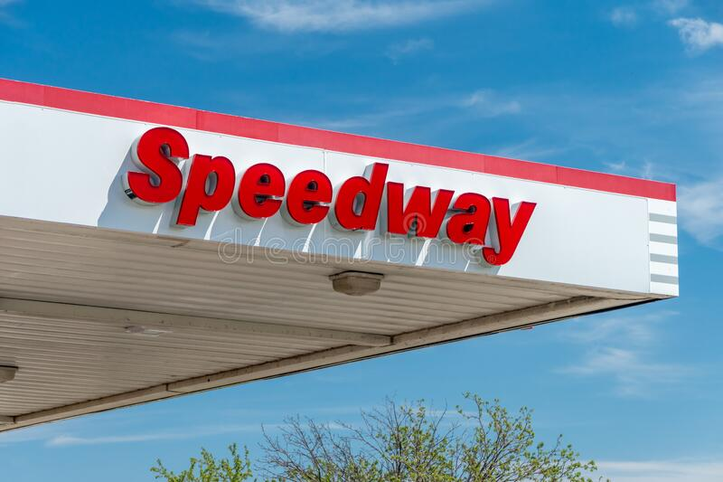Speedway Retail Convenience Store Exterior and Trademark Logo royalty free stock photography