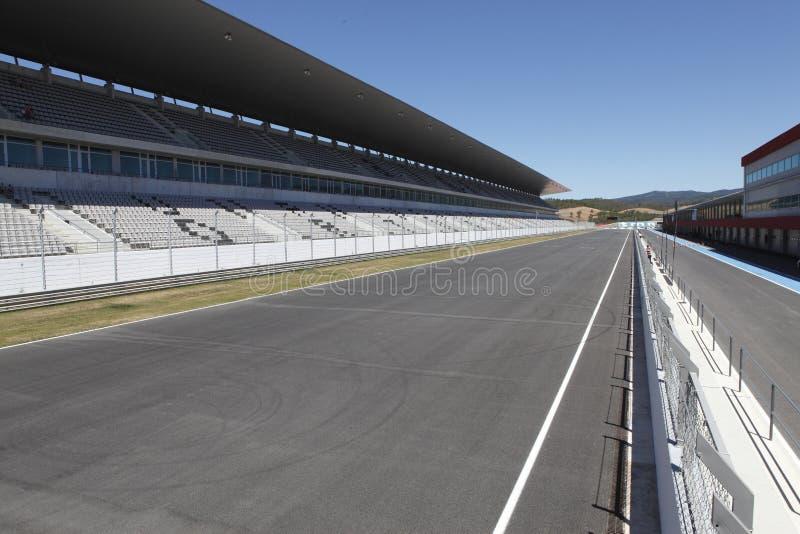Speedwaybaan stock afbeelding