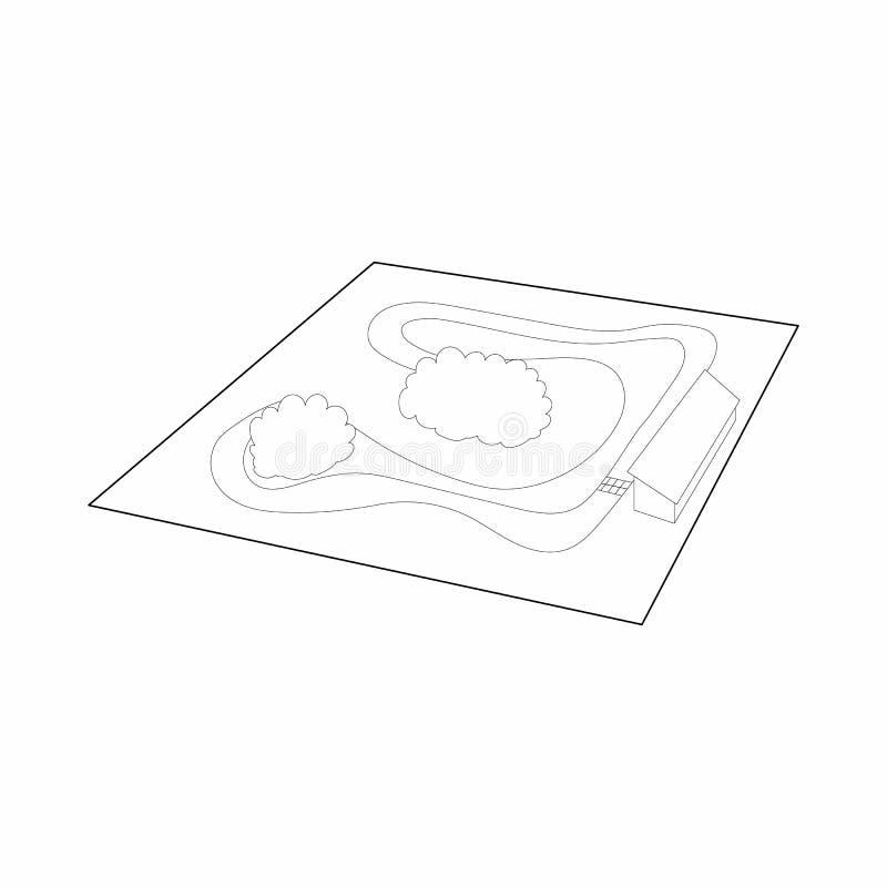 Speedwaysymbol, översiktsstil vektor illustrationer