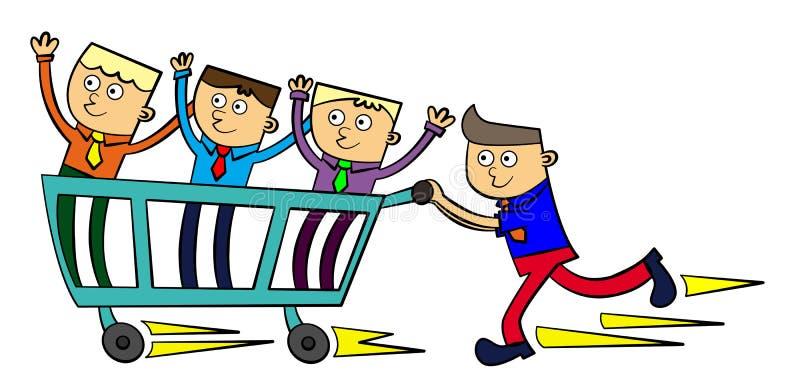 Download Speedy leader stock illustration. Image of management - 26318430