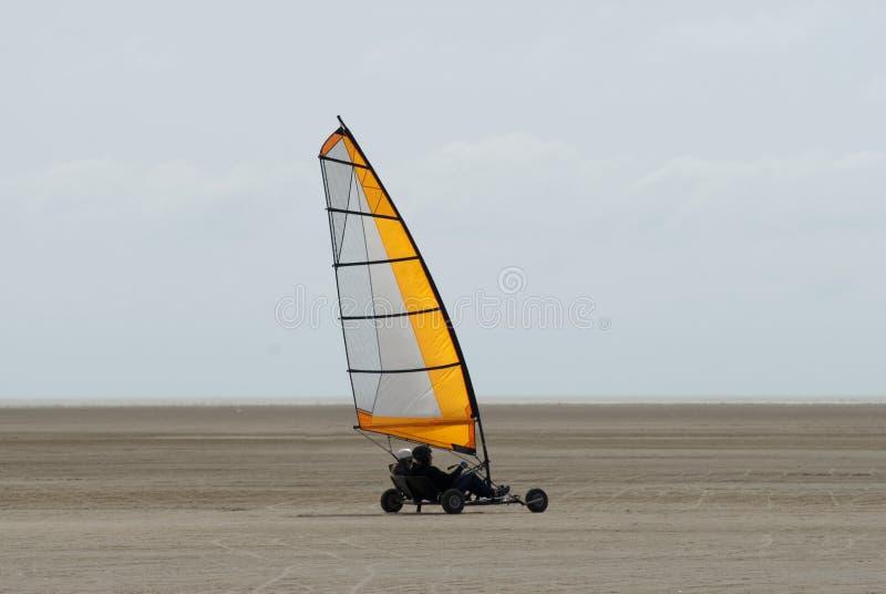 Speedy sand sailing stock photo