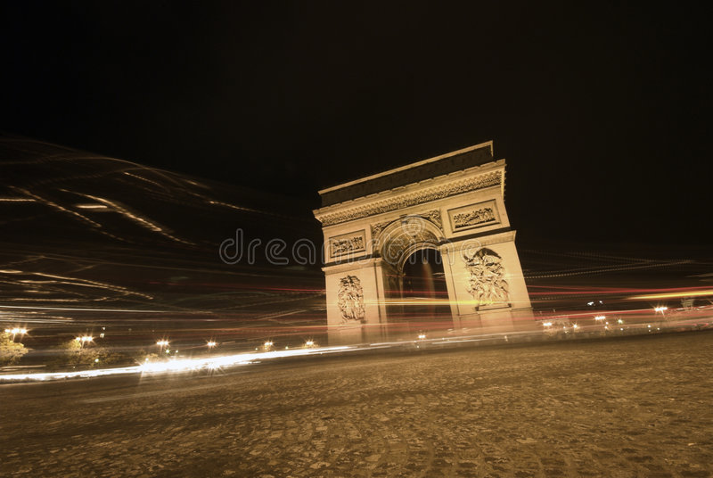 Speedy Traffic in Paris stock image