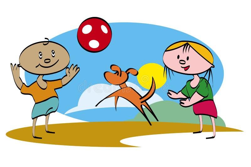 Speel de bal vector illustratie