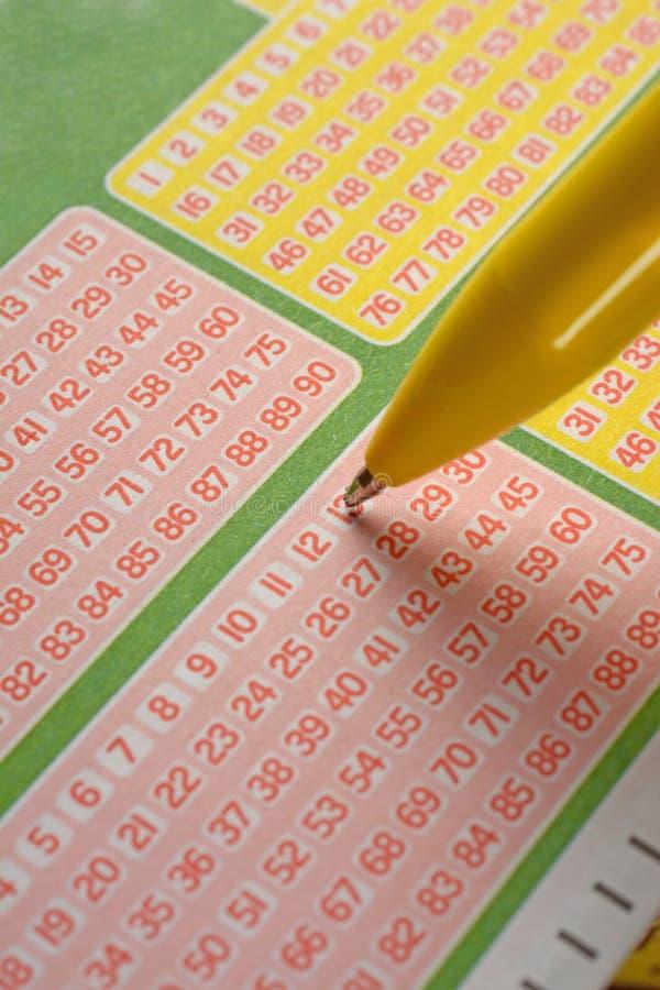Speel de loterij door de aantallen te kiezen royalty-vrije stock foto