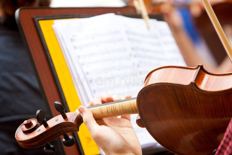 Speel de viool royalty-vrije stock foto