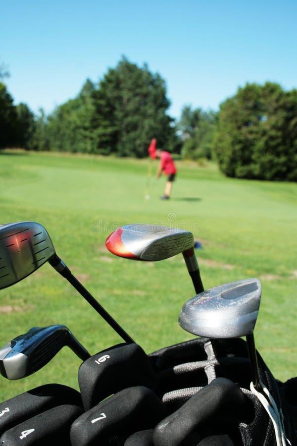Speel golf royalty-vrije stock foto's