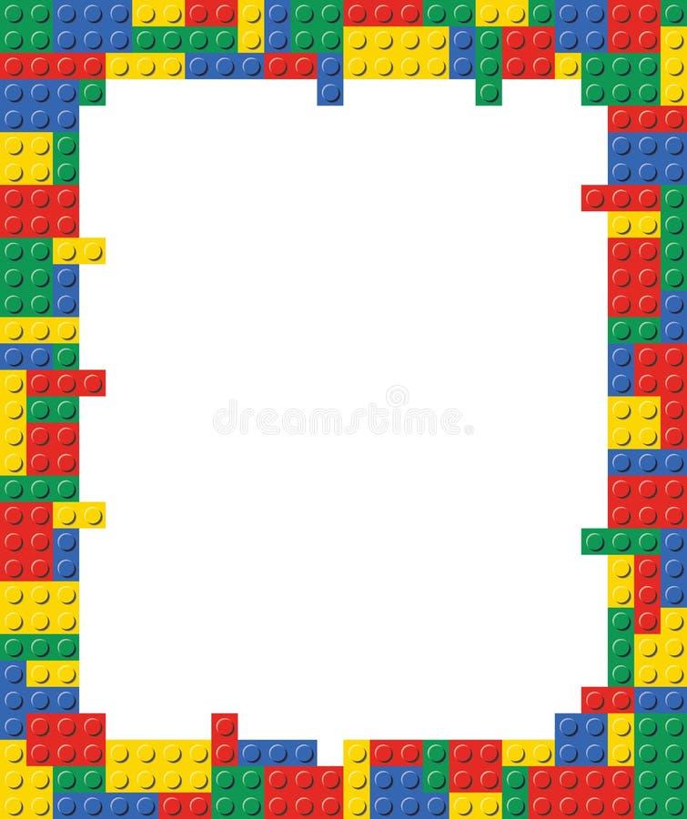 Speel het malplaatje van het blokkader illustratie als achtergrond royalty-vrije illustratie