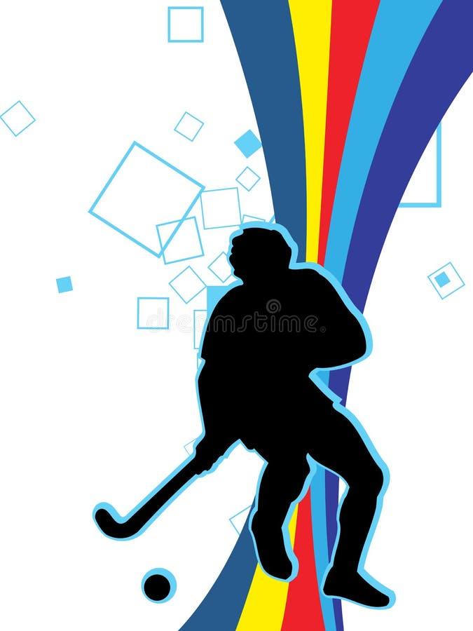 Speel Hockey vector illustratie