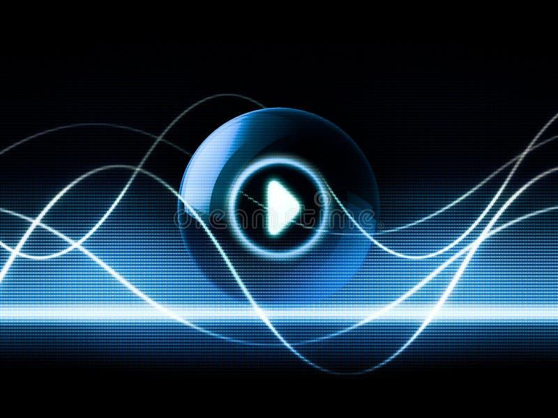 Speel muziek vector illustratie