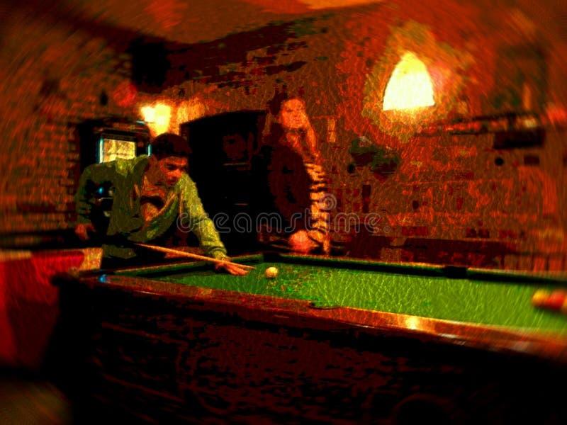 Speel Pool stock foto