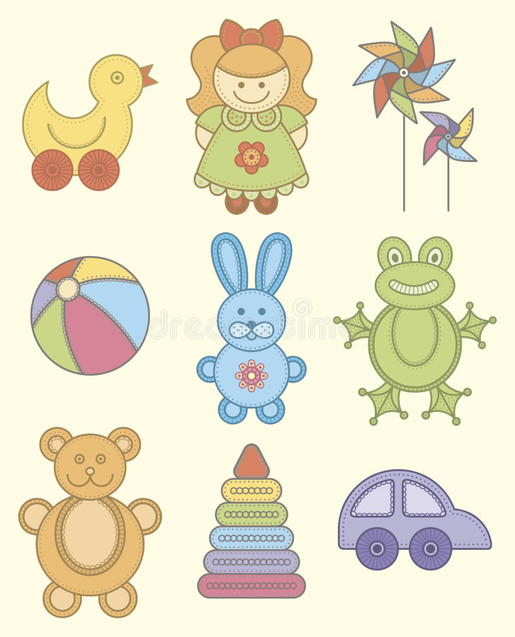 Speelgoed stock illustratie