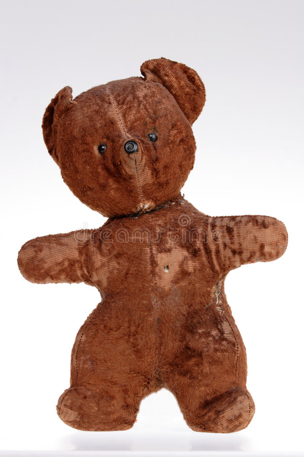 Speelgoed, Portret van de Oude Teddybeer royalty-vrije stock fotografie