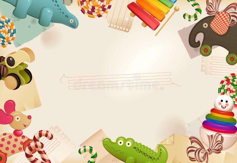 Speelgoed, suikergoed & kinderjarengeheugen royalty-vrije illustratie