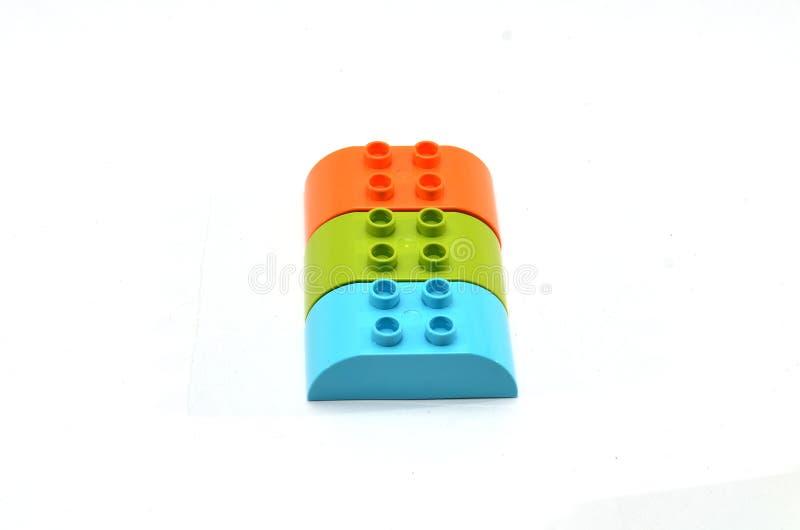 Speelgoed voor kleurrijk assembleren stock afbeeldingen