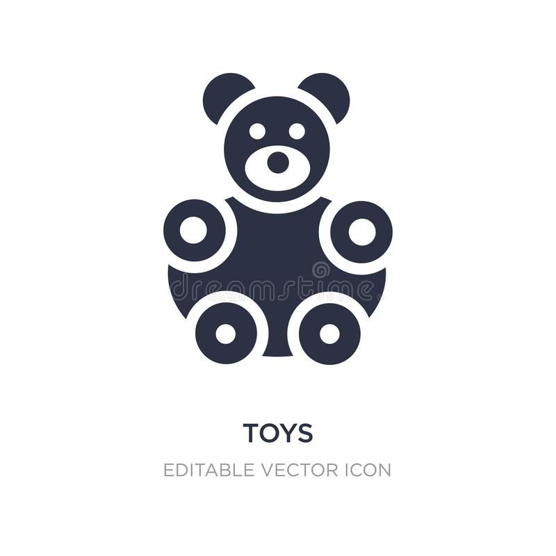 speelgoedpictogram op witte achtergrond Eenvoudige elementenillustratie van Vormenconcept vector illustratie
