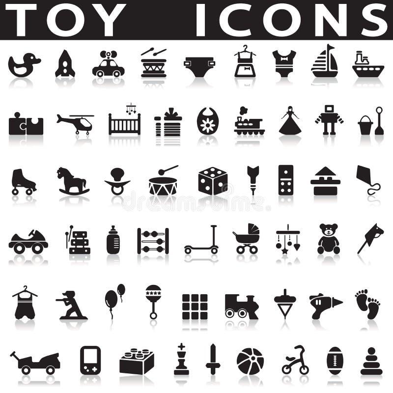 Speelgoedpictogrammen vector illustratie
